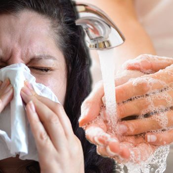 Wash your hand to stop spreading the flu